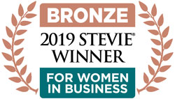 Tonia is a proud winner of the 2019 Bronze Stevie Award for Women in Business